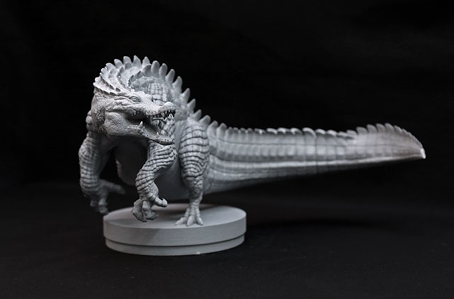 ドラゴンみたいなワニの3Dプリンタ打ち出し